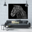 Simple Draft Horse Black and White Picture Animal Art For Living Room Home Wall Decoration Poster Printed On Canvas