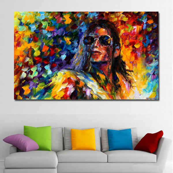 Singer Michael Jackson Posters Splashed Color Art Silk Wallpaper Decorated Living Room free shipping