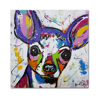 Wall painting colorful Chihuahua dog Home Decorative Wall Art Picture For Living Room print oil paintng No Frame