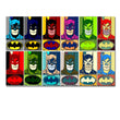 batman twelve panel pop art by thegreatdevin Cartoon Superhero Batman Canvas Painting Kids Boy Bedroom Wall Decor
