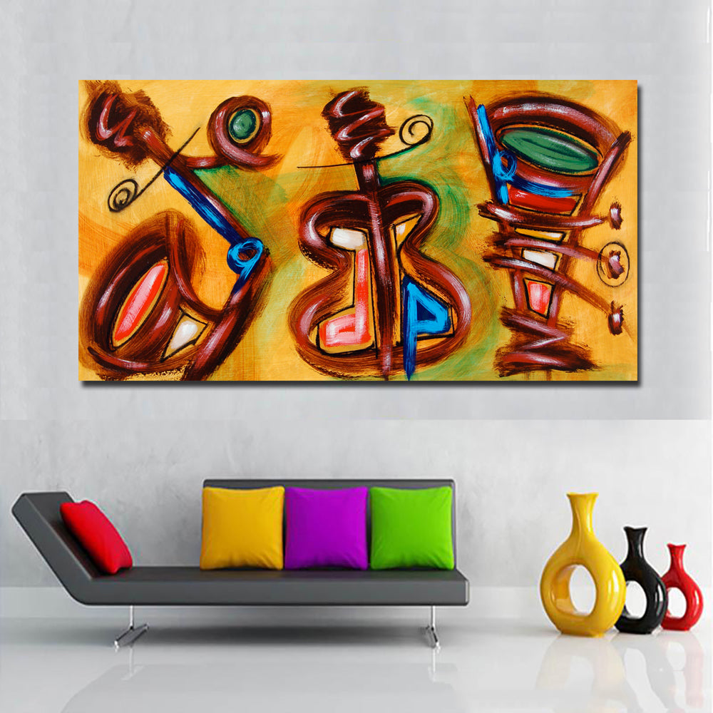 Canvas Art Home Decoration Accessories Guitar Music Decorative Print Painting Wall Art Pictures For Living Room