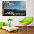 Salvador Dali Art The waves book sailboat for poster picture print on canvas oil painting Diary of Discovery by Vladimir Kush