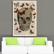 Steampunk Art Print Wall Poster Vintage Dictionary Book Art Print With Skull And Butterflys Art prints Painting Home Decor