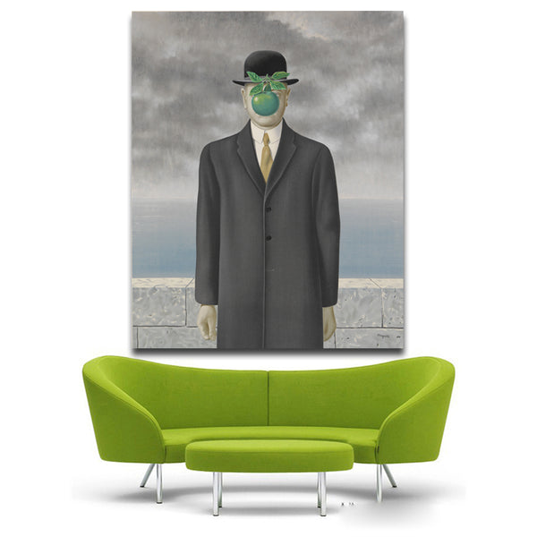 The Son of Man by rene magritte artist morden arts print wall painting on canvas oil painting for wall pictures