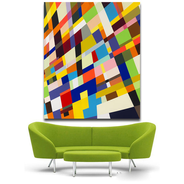 Torben Giehler Push No War Modern Color box Wall Art Unframed Canvas prints oil Paintings For Home Bedroom