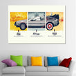 Unframed Grey Car Canvas Printed Paintings Modern Home Wall Decor Painting On Canvas