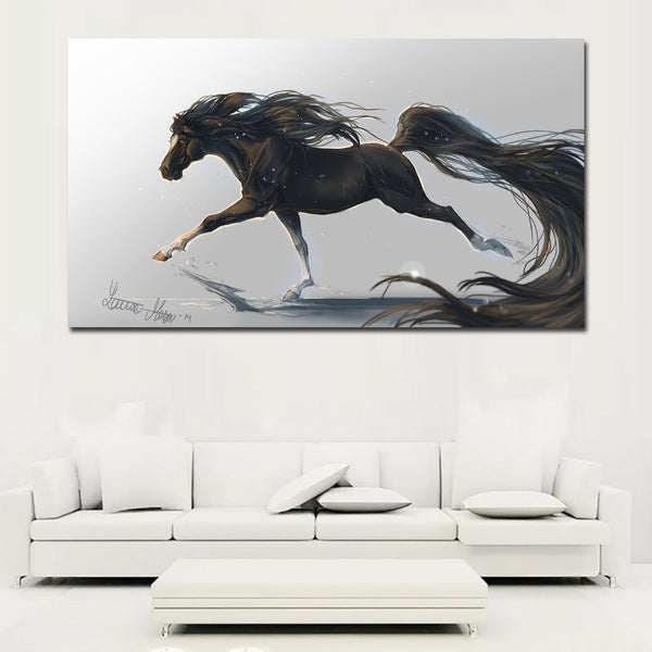 Unframed Modern Art Painting Print Canvas Picture Running Horse Painting Home Wall Room Decoration Animal Canvas Print Painting