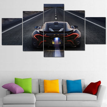 Unframed Modern Mode Auto Bild Canvas Painting boy nursery decor Payable on canvas 5 PIECES wall art painting by
