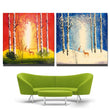 Wall Art Landscape Painting Deer And Tree Canvas Painting Art Prints Posters For Living Room Bedroom Home Decor Unframed