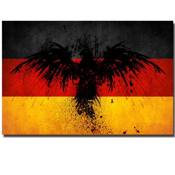 Wall Art Large Colorful Artwork Creative Ideas Germany Flag With Eagle Print On Canvas Wall Print Painting For Living Room