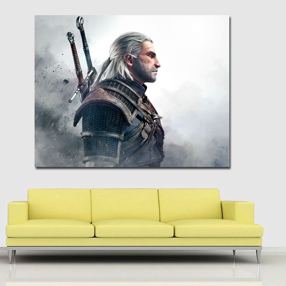 Wall Art Print Canvas Painting The Witcher 3 Wild Hunt Men Geralt of ...