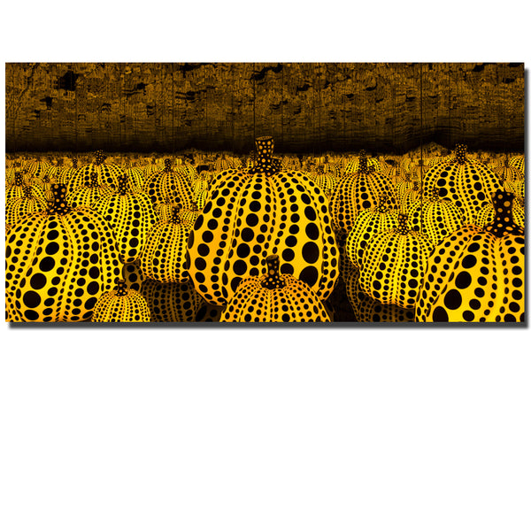 Yayoi Kusama All The Eternal Love I have for the Pumpkins Printed Oil Painting On Canvas wall Painting for Home Decor Unframed