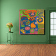 Yayoi Kusama Printed Canvas Arts Posters Print Wall Painting Abstract Art For Living Room Home Decor Wall Picture