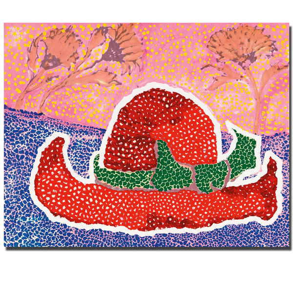 Yayoi Kusama Red Hat Wall Painting picture Home Decorative Art Picture Paint On Canvas Prints Wall Painting for Home Decor