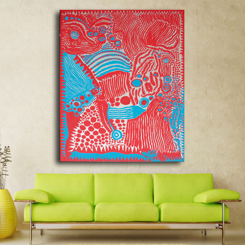 Yayoi Kusama red Abstract picture of Wall Painting Home Decorative ...