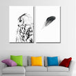 black white bird and feather Posters And Prints Nordic Poster Picture Wall Art Canvas Painting Wall Pictures For Living Room