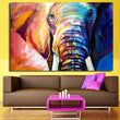 blue watercolor Animal Canvas Wall Art Elephant Painting Picture For Home Living Room Bedroom Study Decor Large Quality No Frame