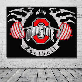 canvas Painting Ohio State Buckeyes For Wall Painting Removable Picture Adornment Background Painting for Friend's Gift