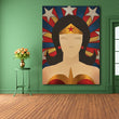 modern cartoon figure Wonderwoman oil painting canvas painting printed on canvas kid room decoration pictures