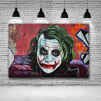 free shippingJoker Gnasher 100 UK Graffiti artist painting POP ART poster Giclee printing on canvas for wall decoration painting