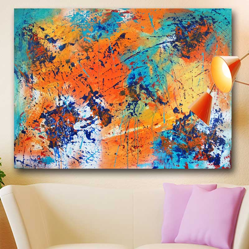 jackson pollock Abstract Art Canvas Painting Embrace the Warmth Wall ...