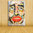 pop art prints canvas painting abstract living room decoration artwork face portrait display lips colorful emotions painting