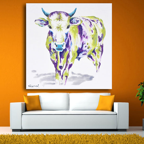 printed Modern Mural Picture on Canvas Wall Art watercolor Cow Painting Hang Paintings Abstract Animals Oil Painting Landscape