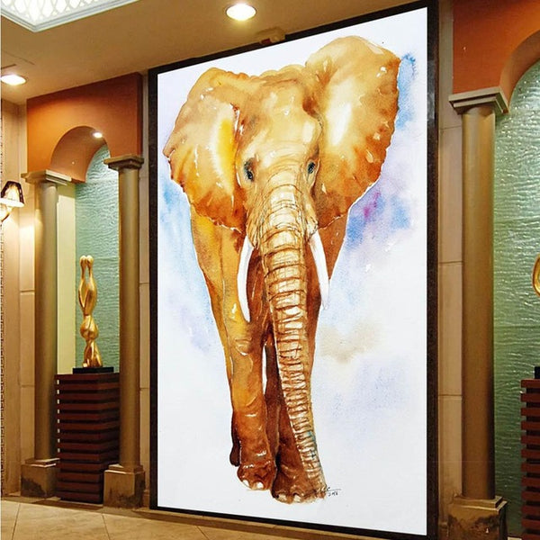 Decoracion Wall Art Oil Painting Elephant Picture On Canvas 1peice Paintings Home Decor For Living Room Modern free shipping