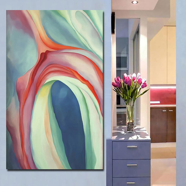Georgia O'Keeffe Museum Flower print canvas painting abstract modern poster oil painting wall Home Decoration Living Room