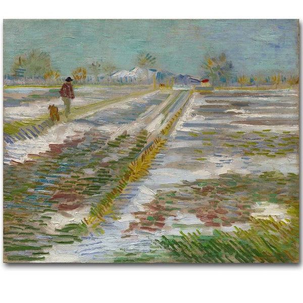Famous Vincent Van Gogh painting Impression Oil Painting Printed On Canvas Landscape Oil Painting Canvas Wall Art Prints