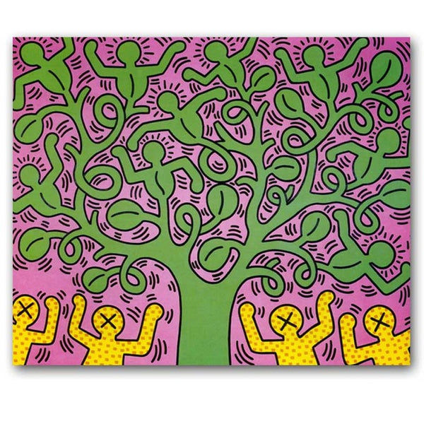 modern abstract canvas art keith haring canvas oil art painting canvas pictures for livingroom bedroom decoration unframe