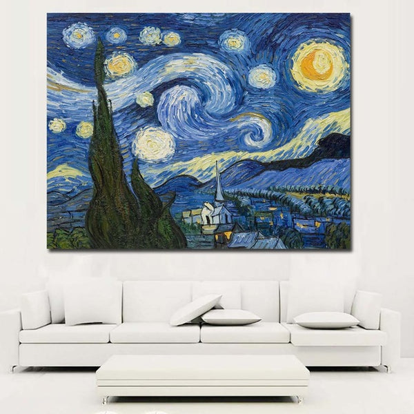 Canvas Paintings Framework Home Decoration HD Prints Rick And Morty Poster Starry Sky Pictures For Living Room
