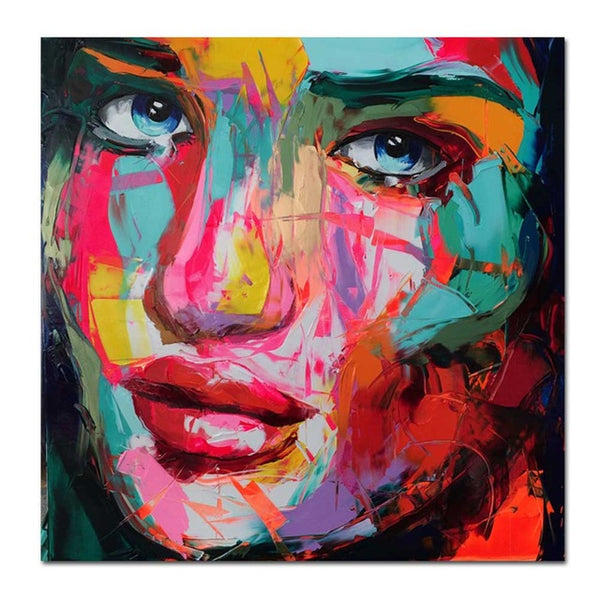 Oil Painting on Canvas Colorful Portrait print Paintings on canvas Modern Home Decoration Wall Art Picture Frameless