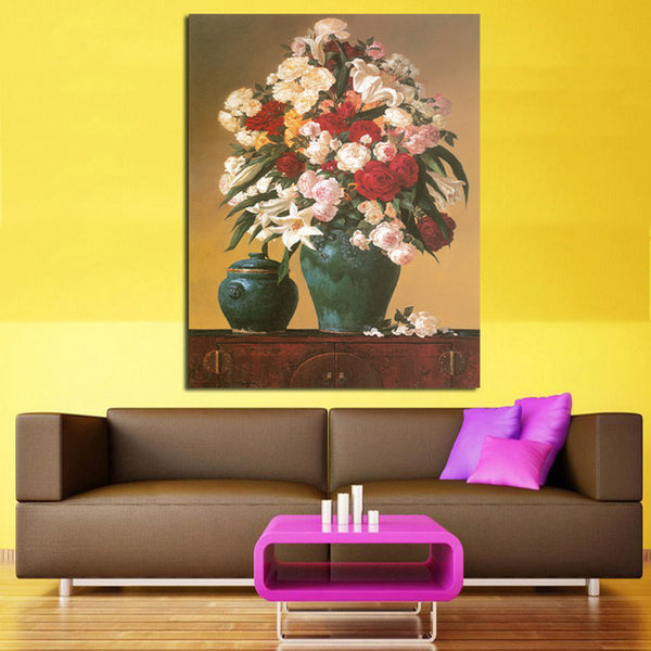 Frameless Flower Vintage Painting Painting Printed On Canvas Wall Art Picture For Home Decoration Artwork