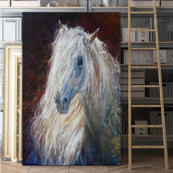 High Quality print Oil painting Canvas colorful horse feather Art Prints Picture beautiful artwork for Living Room