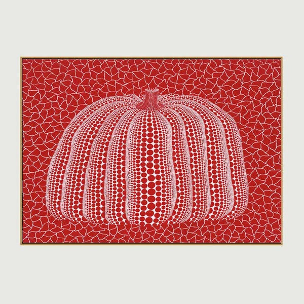 ART Yayoi Kusama Canvas Art Red Pumpkin Printed Oil Painting On Canvas Wall Painting for Home Decor Wall Picture