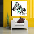 watercolor Abstract pop art painting Zebra Wall Art Oil Painting Home Living Room Decoration cartoon picture free shipping