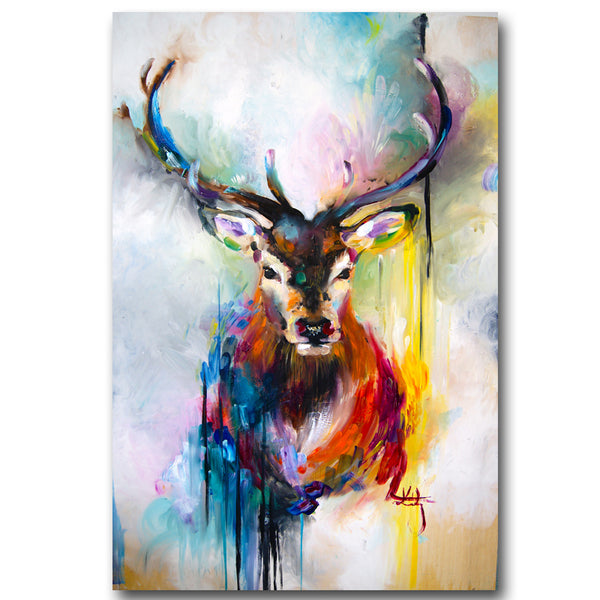 watercolor red deer Canvas Painting Pictures On The Wall Decorative Home Decor Pictures Canvas Art Posters No Frame