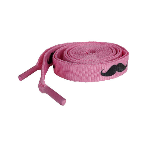 Moustache Shoe Laces (pink)