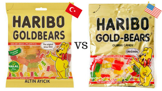 Are Haribo Gummy Candies Halal?  And which taste better - The American Haribo or the Turkish Haribo?