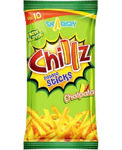 Chillz Chatpata Potato Sticks - Salty, spicy, savory snack