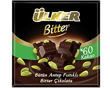 Ulker Cikolata - Dark Chocolate with Pistachio