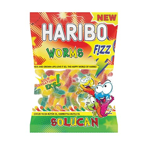 Haribo Fizzy Sour Worms (Halal imported from Turkey)