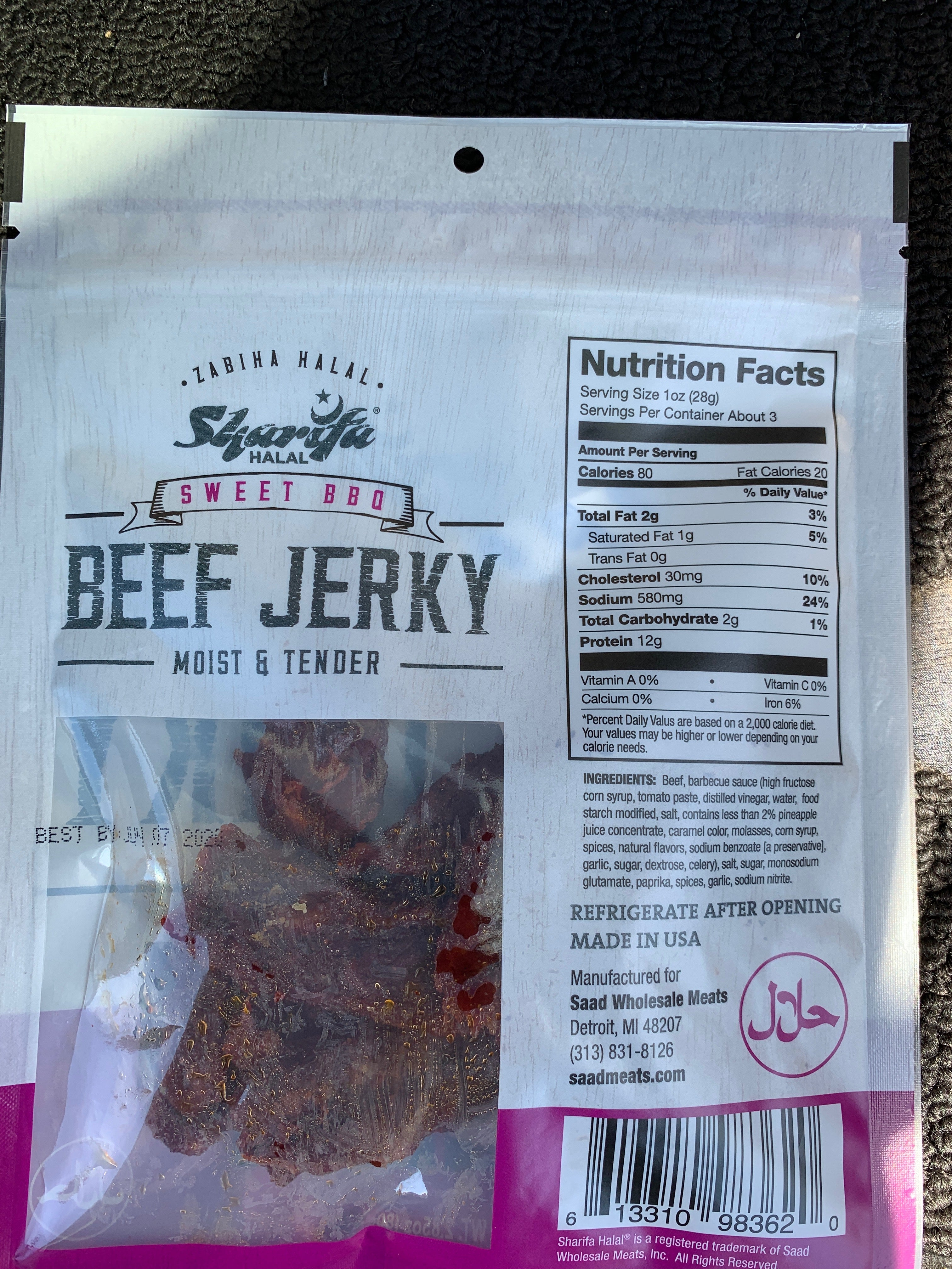 New! Sweet BBQ Beef Jerky