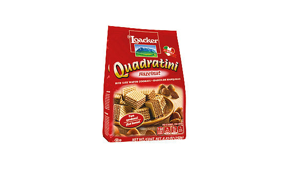 Loacker Quadratini Hazelnut (Wafer Bites) 125G