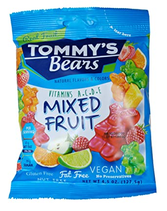 Tommy's Bears mixed fruit vegan gummy bears