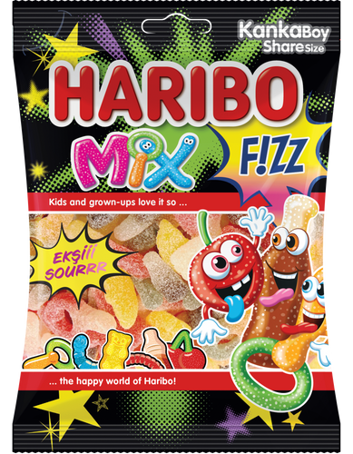 Haribo Fizz Mix (Imported from Turkey) 70g