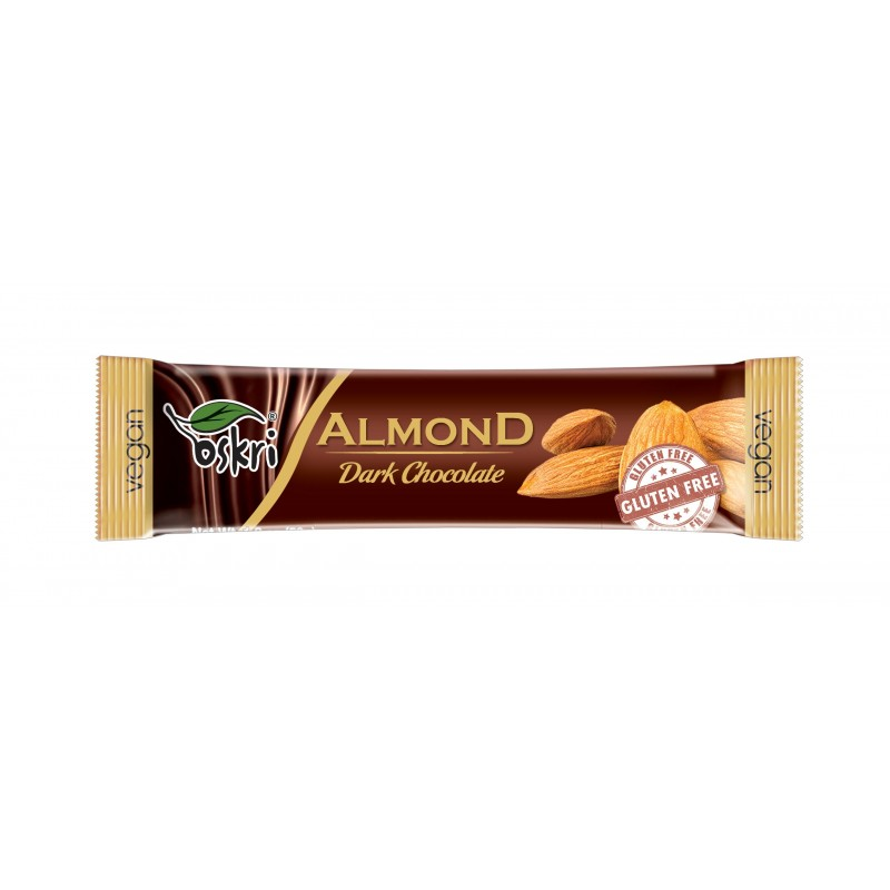 Oskri Almond Dark Chocolate Bar