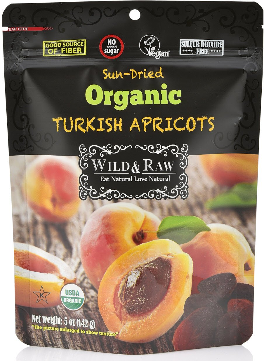 Organic Sun Dried Turkish Apricots - 5oz - Non GMO