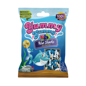 New! Yummy Gummy Blue Sharks